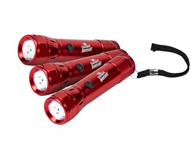 Vermont American 6LED Flashlight w/ Laser Red, 3-Pack