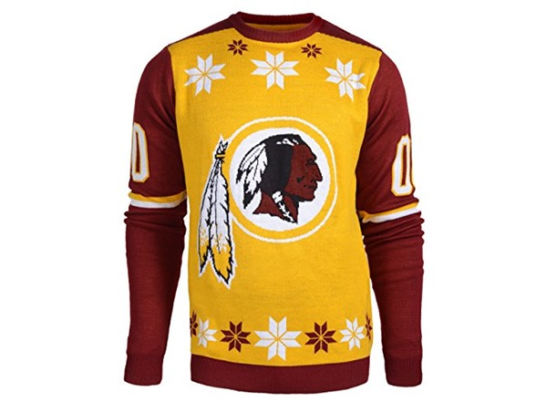 check out eec07 e9c68 NFL Washington Redskins Ugly Sweater, LG