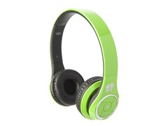 Stereo Bluetooth Headphones w/Mic - Green