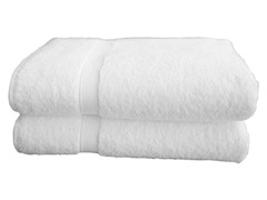 700GSM Terry Bath Sheets -S/2 - White