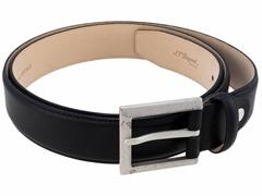 S.T. Dupont Patiné Calfskin Belt, Black