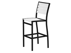 Euro Bar Chair, Black/White
