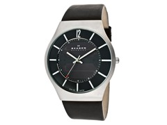 Men's Solar Stainless Steel Black Dial