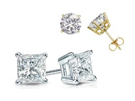 Certified Diamond Solitaire Studs- Free Returns