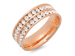18kt Rose Gold Plated Double Row Band