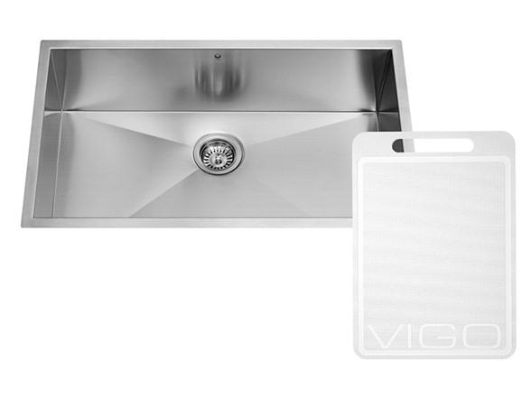 30-inch Undermount Stainless Steel 16 Gauge Single Bowl