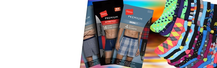 Men's Socks and Underwear Packs