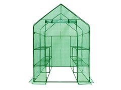Walk-in 2-Tier 8-Shelf Greenhouse