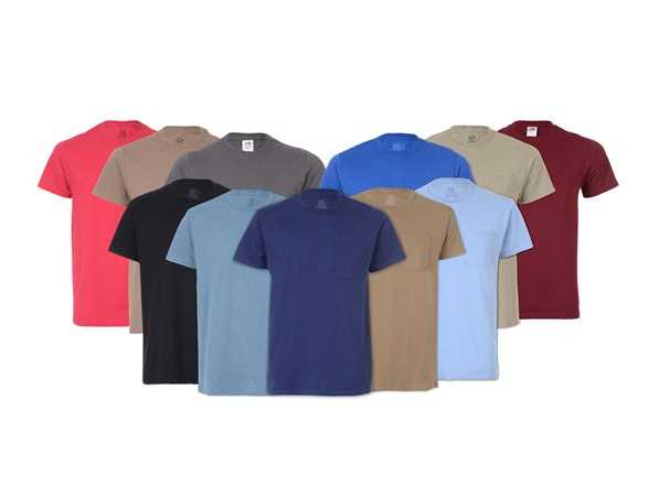 4595d6ef Fruit of the Loom Pocket Tees 12-Pack