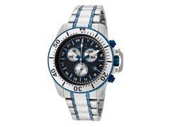 Pro Diver Chronograph, White/Blue