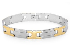 18kt Gold Plated Two-Tone Bracelet