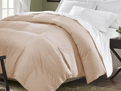 Down Blend Comforter-Khaki-King
