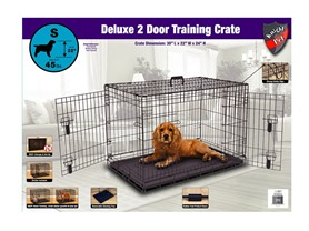 "Knight Pet 30"" Deluxe Heavy Gage Metal 2 Door Dog Crate"