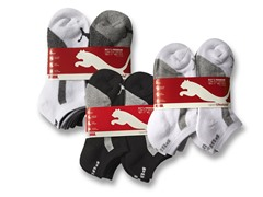 6-Pk Puma Boys Socks 2-Choices (7-8.5)