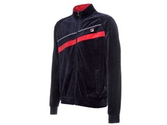 Fila Mens Diagonal Velour Jacket,Peacoat