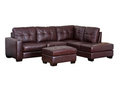 Madison Leather Sectional & Ottoman