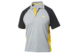 Fila Men's Coach Polo, Grey/Black (M)