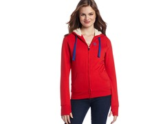 USPA Jrs Classic Fleece Jacket, Ruby