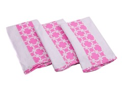 3 Pack Premium Burp Cloth - Pink