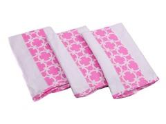 3 Pack Premium Burp Cloth - Pink
