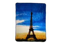 Hi Pile Printed 60x80 Throw-Paris Suns