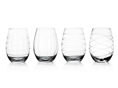 Medallion 17-oz Stemless Goblet Set of 4