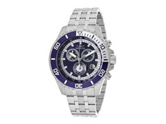 Invicta Men's Chronograph, Navy/Silver