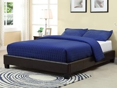 Ledge Upholstered Queen Platform Bed