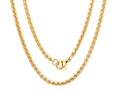18kt Gold Plated Box Chain Necklace