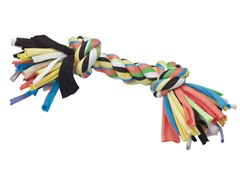 Tuggin' Tees Rope Toy, 2 Knot - 10""