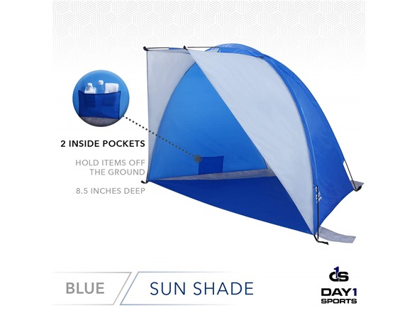 Shelter UV Protection Day Tents Portable Extended Canopy for Sun Carry Bag by D1S Shade Mesh Window Outdoor Cabana Tent Beach Shade with Sand Stakes Privacy Screen