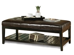 Abbyson Living Manchester Leather Coffee Table