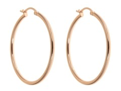 18kt Rose Gold Plated 30mm Hoops