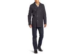 Levi's Men's Wool Melton Peacoat, Charcoal