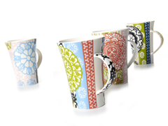 Floral Mugs - Set of 4