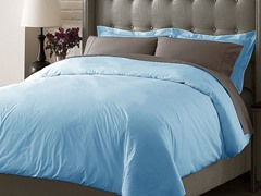 Hotel Duvet Cover Set - Blue - 3 Sizes