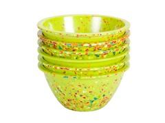 "Kiwi Confetti 5.63"" Bowls S/6"