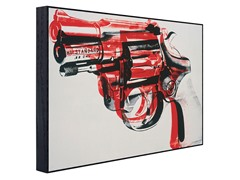 Gun -Black and Red on White (2 Sizes)