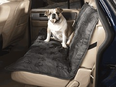 Guardian Gear Pawprint Car Seat Cover - Charcoal