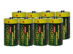 D Alkaline Batteries - 8 Pack