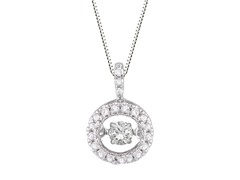 "ZKS Designs ""Dancing"" Diamond Circle Pendant"