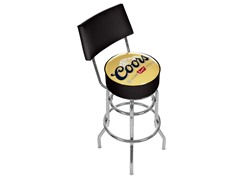 Coors Banquet Padded Bar Stool w/ Back