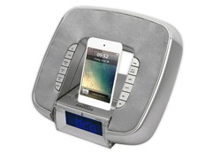 Dual Alarm Clock for iPhone - Silver