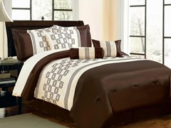 Rolando 7pc Comforter Set - Brown - 2 Sizes