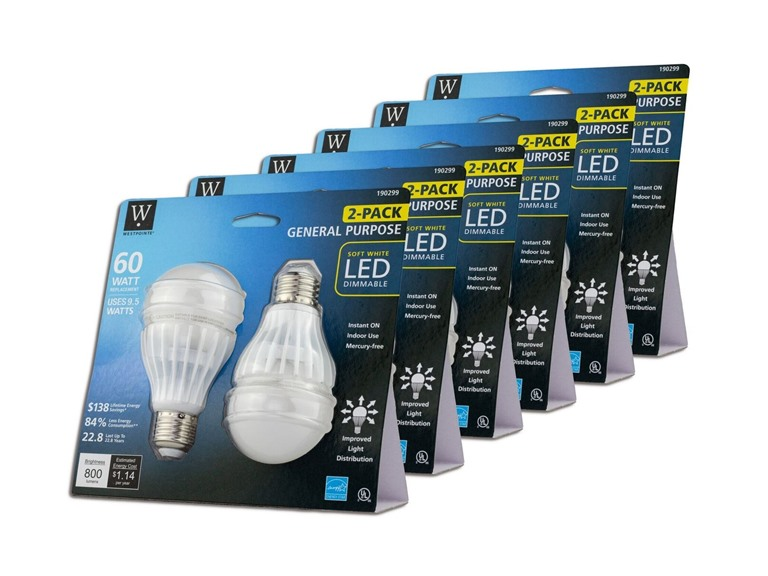 A19 LED Omni Bulb (12-Pack)