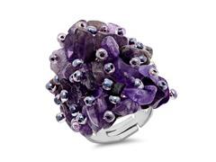 Adjustable Amethyst Ring