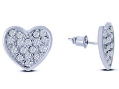 Swarovski Elements Heart Earrings