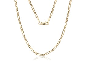 14K Yellow Gold Figaro Necklace- Pick Size