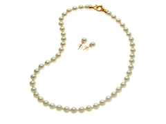 White 8mm Necklace & Earring Set