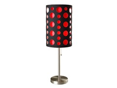 "33"" Black-Red Table Lamp"